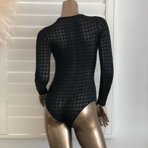 Fashion Nova Tops - Edges That Scratch Bodysuit - Black!